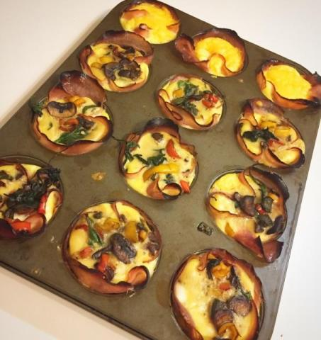finished baked egg cups